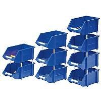 Heavy Duty Storage Bin Pack of 12 Blue 360235