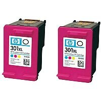 HP301XL Tri-Colour Ink Cartridge Twin Pack CMY D8J46AE