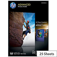 HP Advanced Glossy Photo Paper A4 210x297mm (25 sheets)