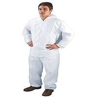 HPC Non-Woven Overalls Medium White Work Coveralls DC03