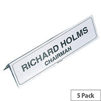 Identibadge Name Holder 210x65mm Transparent IBNP2