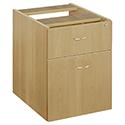 Jemini 2-Drawer Fixed Pedestal Oak KF72076