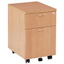 Jemini 2-Drawer Mobile Pedestal Beech KF72081