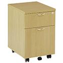Jemini 2-Drawer Mobile Pedestal Oak KF72082