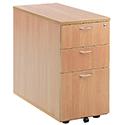Jemini 3-Drawer Desk High Pedestal 800mm Beech KF72072