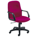 Jemini Managers Chair With Arms Star Leg Claret KF03430