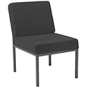 Jemini Fabric Upholstered Reception Chair Charcoal KF04010