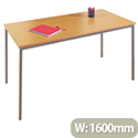Jemini Rectangular Table 1600x800mm Beech KF72373