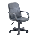 Jemini Trent Budget Black Leather-Look Executive Chair KF73635