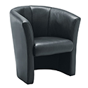 Avior Leather Look Tub Chair Black KF03527