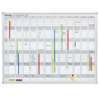 Franken Annual Planner 1200 x 900mm Day Grid 75 x 21mm JetKalender JK1203