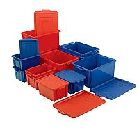 Storemaster Jumbo Crate With Lid 48.5L Red L560xW385xH280mm