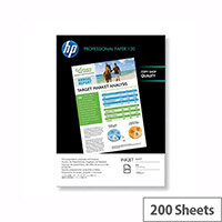 HP A4 White Professional Matte Inkjet Printer Paper 120gsm (Pack of 200)