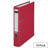 Leitz Red Mini A4 Lever Arch File 52mm Pack of 10
