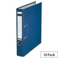 Leitz Blue Mini Lever Arch File Plastic A4 Pack 10