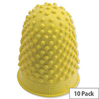 Rubber Thimblette Size 2 Yellow Pack 10 Quality