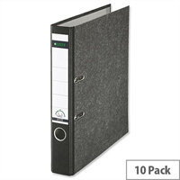 Leitz Standard Mini Lever Arch File A4 Black Pack 10