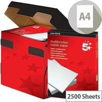 5 Star Multifunctional Printer Paper A4 White 2500 Sheets