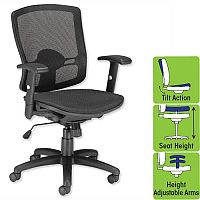Influx All Mesh Task Chair Office Armchair Black