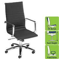 Modern Executive Office Chair Armrests Black S7A