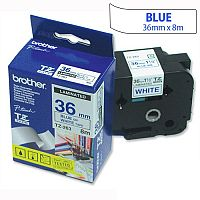 Brother TZ263 P-touch TZ Tape 36mm x 8m Blue on White