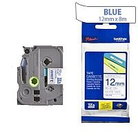 Brother TZ233 P-touch TZ Tape 12mm x 8m Blue on White