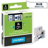 Dymo D1 Tape 40914 9mm x 7m Blue on White S0720690