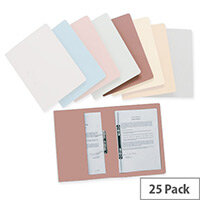 Pink Transfer Spring Files with Inside Pocket 38mm Foolscap Pack 25 Invo