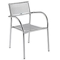 Plaza Mesh Cafe Chair - Aluminium
