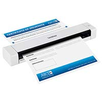 Brother DS-620 Portable Document Scanner, A4, Colour, Up to 8 Pages Per Minute Scan Speed, USB 2.0 Powered, for Windows, Mac, and Linux