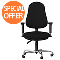 OE Series High Back Posture Operator Office Chair - Black Fabric
