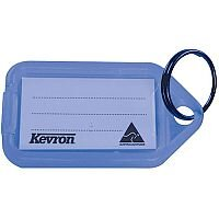 Kevron Plastic Clicktag Key Tag Blue Pack of 100