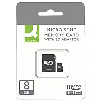 Q-Connect Micro SDHC Card 8GB Class 10 With SD Adaptor KF16011