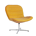 TWISTER Wool Upholstered Reception Lounge Chair Mustard Yellow