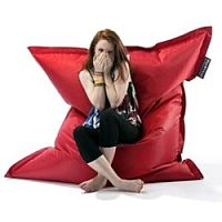 Large Red Bean Bag For Indoor and Outdoor Use