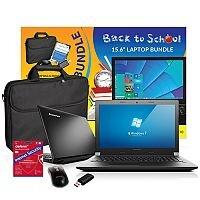 "Lenovo B50 15.6"" Laptop Intel Celeron 4GB RAM 500GB HDD DVD Windows 10 Home + FREE ACCESSORIES"