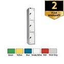 Lion Steel 3 Door Locker 305x460mm Yellow 701218/3