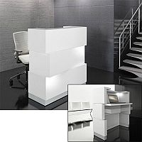 Zen Reception Desk White RD11