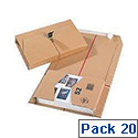 Ambassador Mailing Boxes Brown 215x155x58mm Pack of 20
