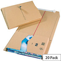 Mailing Cardboard Boxes 380x285x80mm Brown Pack of 20