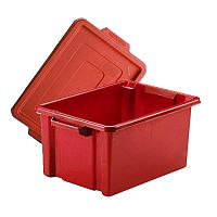 Storemaster Maxi Crate With Lid 32L Red L470xW340xH240mm