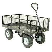 VFM Black Mesh Platform Truck With Sides (Pack of 1) 385767