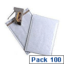 Mail Lite Plus Bubble Lined Size C/0 150x210mm Oyster White Postal Bags Pack of 100