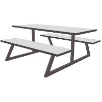 Nevada Fully Welded Table & Bench Set