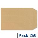 New Guardian C5 Manilla 130gsm Envelopes Press Seal Pocket Pack 250 Ref D26103