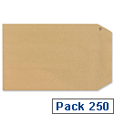 New Guardian C5 Manilla 130gsm Envelopes Peel and Seal Pocket Pack 250 Ref L26039