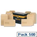 New Guardian C5 Manilla 80gsm Envelopes Press Seal Pocket Pack 500 Ref H26211