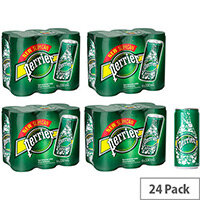 Perrier Pure Natural Mineral Sparkling Water, Low Carbonate & Sodium, Revitalising & Refreshing Sparkling Water, 330ml Can, Pack of 24 Cans, 11648958