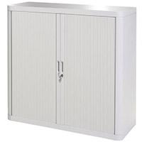 Paperflow Easy Office Cupboard 1 Metre Grey/Grey with 2 Shelves EE000005
