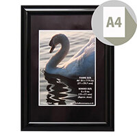 Photo Album Company Certificate Frame A4 Shiny Black PILA4SHIN-BLK